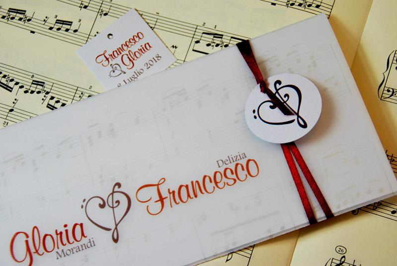 Favorito Partecipazione di matrimonio a tema musicale - Partecipazioni  SB01