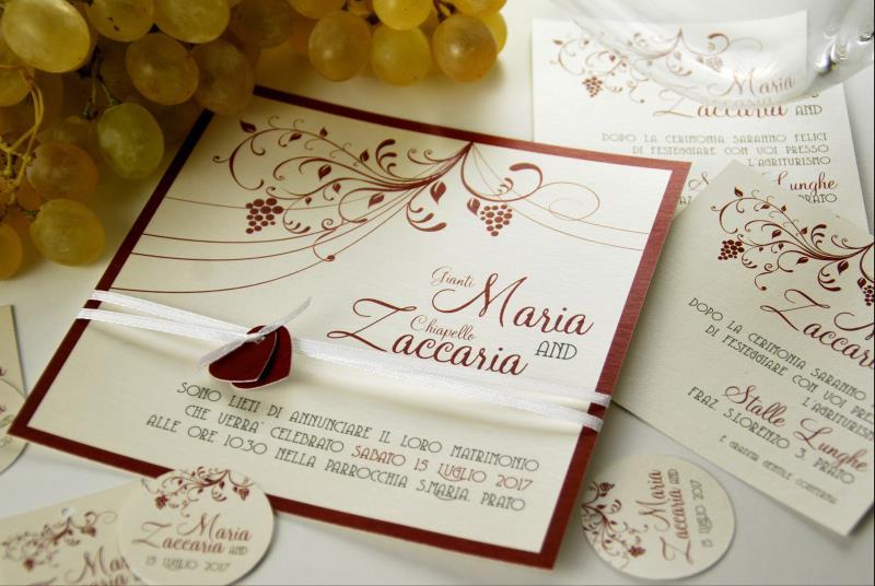 Favoloso Partecipazione tema vino, adatto ad un matrimonio in cantina  MH14