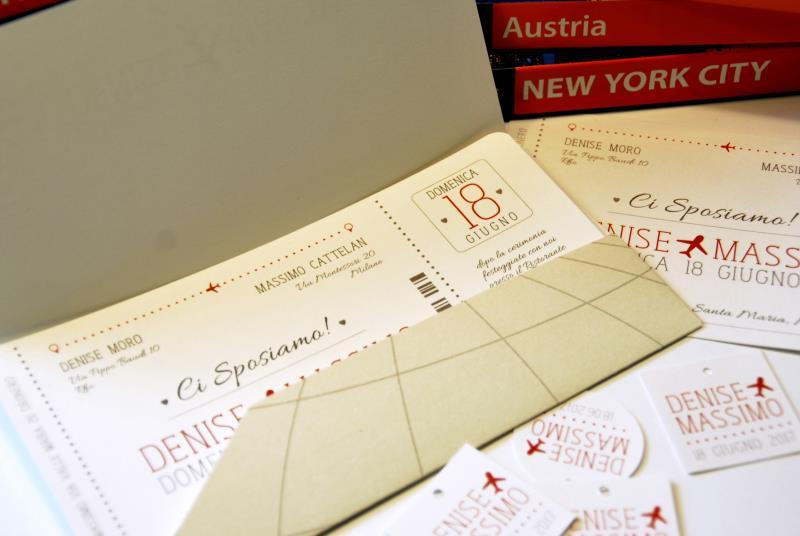Preferenza Partecipazione a tema viaggio, a forma di biglietto aereo  KV62