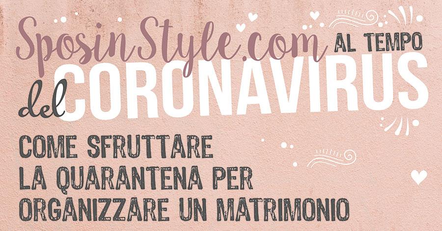 Organizare Matrimonio Coronavirus