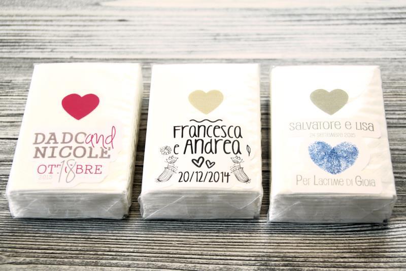 Fazzoletti di carta personalizzati personalizzati con i - Decorazioni con fazzoletti di carta ...