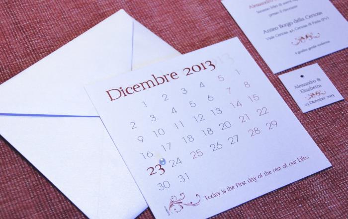 PARTECIPAZIONE, INVITO E BIGLIETTO BOMBONIERA - THE FIRST DAY