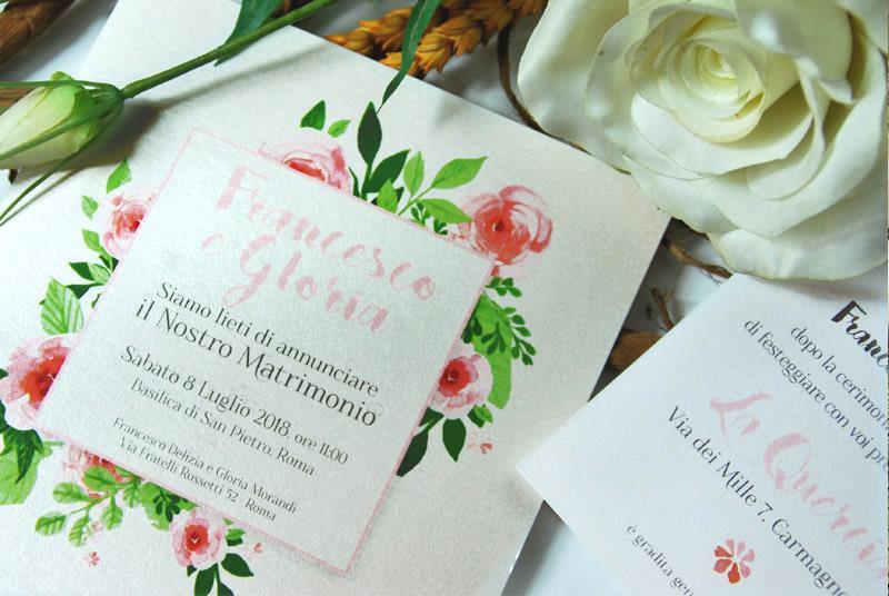 BOUQUET. Partecipazione a tema Floreale, elegante e romantica