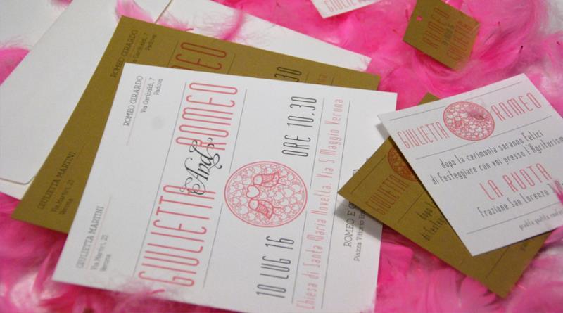 PINK AND GREY - Partecipazione romantica e moderna, rosa e grigia
