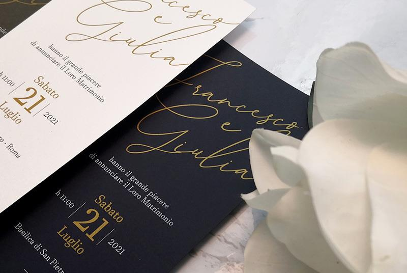 CLASSIC - Partecipazione classica e elegante, con nomi calligrafici in evidenza