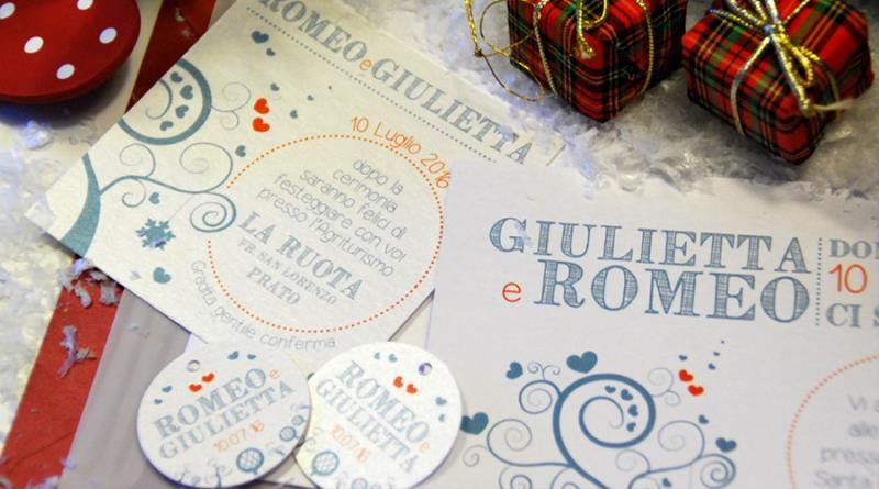 SOGNO INVERNALE - Partecipazione di matrimonio invernale, informale, blu e rossa