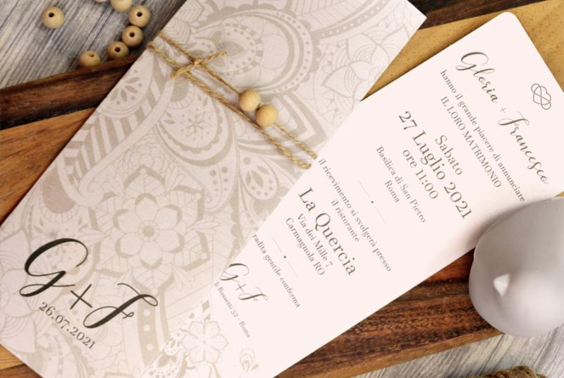 ME + YOU - Partecipazione elegante con iniziali degli sposi