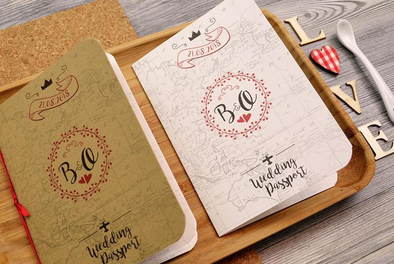 WEDDING PASSPORT. Partecipazione a tema Passaporto