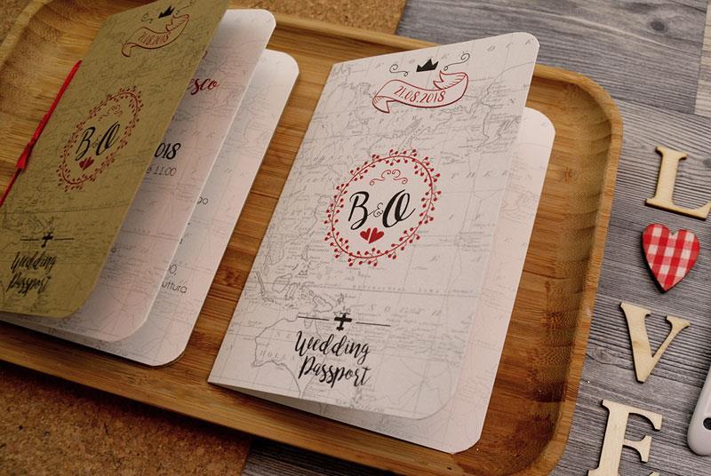 WEDDING PASSPORT - Partecipazione a tema Passaporto