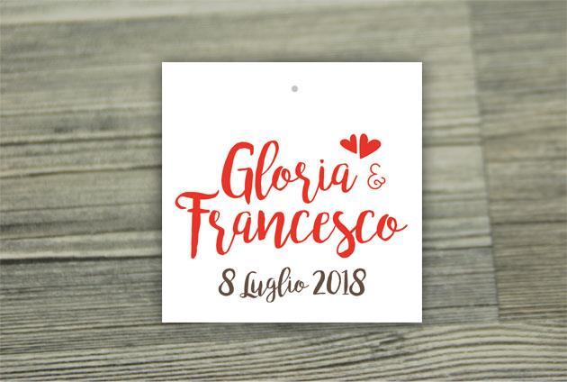 Biglietto Bomboniera Quadrato  WEDDING PASSPORT