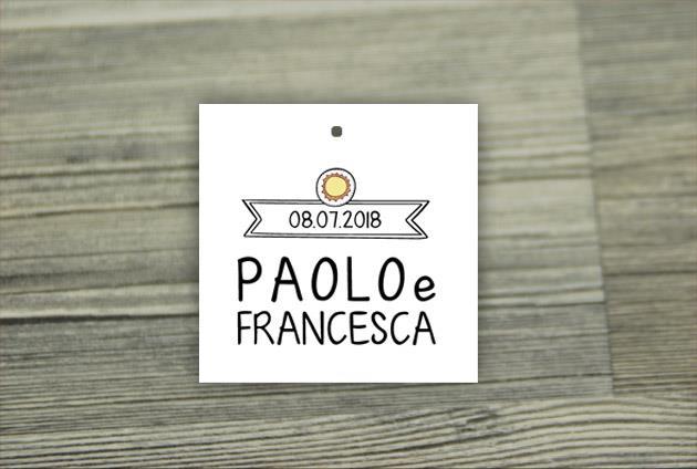 Biglietto Bomboniera  Quadrato  REMEMBER IT
