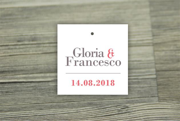 Biglietto Bomboniera Quadrato  FIRST DAY
