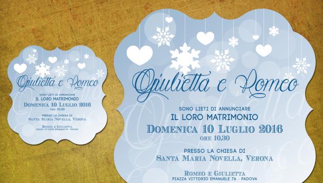 Partecipazione di Matrimonio Sagomata  LET IT SNOW!