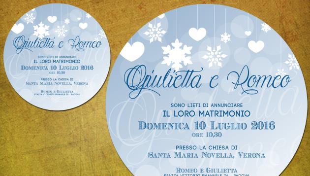 Partecipazione di Matrimonio Tonda  LET IT SNOW!