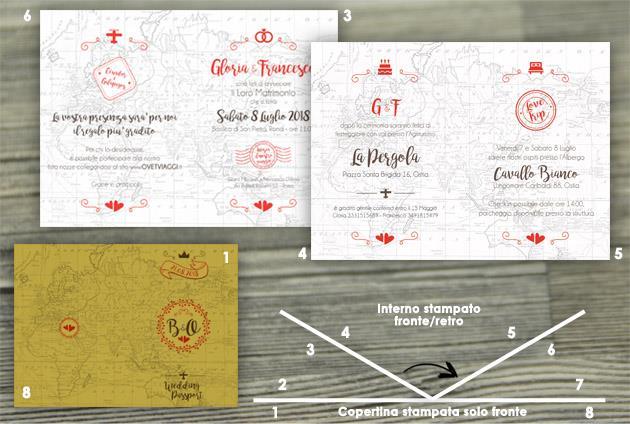 Partecipazione di Matrimonio 8 Pagine  WEDDING PASSPORT